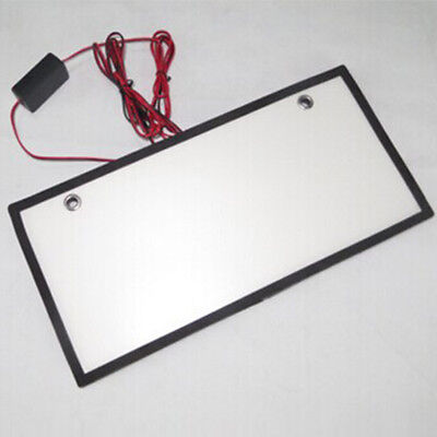 LED Cold Light Smoke License Plate Tag Frame Cover Shield Car Truck Supplies