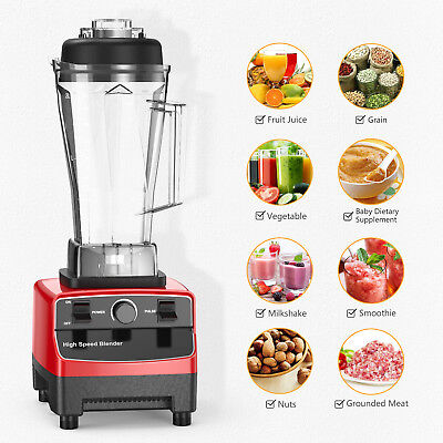 1200W Professional Kitchen Blender For Smoothies Powerful High Speed Ice Crusher