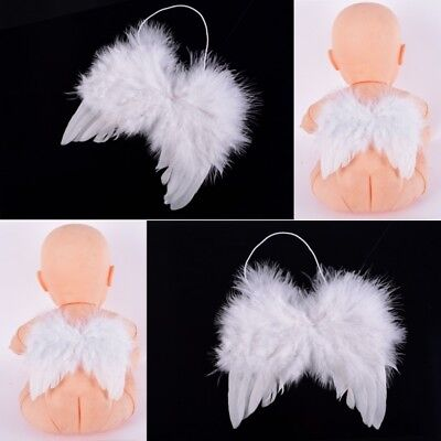 US Baby Kids Feather Angel Wings Photo Props Infant Halloween Wings Dress Up