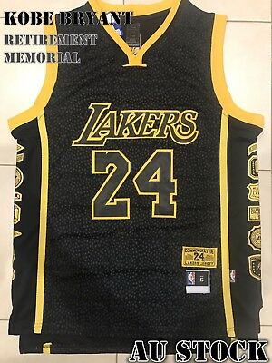 Los Angeles Lakers #24 Kobe Bryant Limited Edition Retirement Memorial Jersey