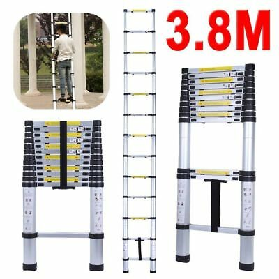 3.8M Multi-Purpose Aluminium Telescopic Ladder Extendable Stair Loft Power Steps