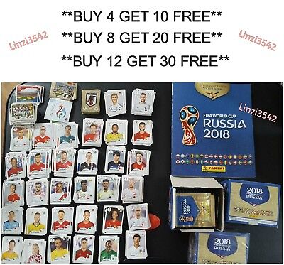 Panini FIFA World Cup Russia 2018 Teams Football Stickers Group A Numbers 33-111