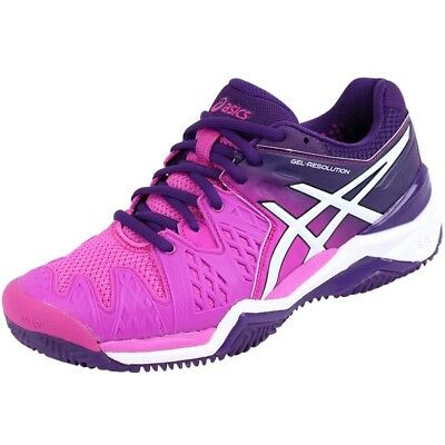57 Resolution Chaussures Rose 49 Eur Gel Asics Clay Tennis 6 Femme zwOpA