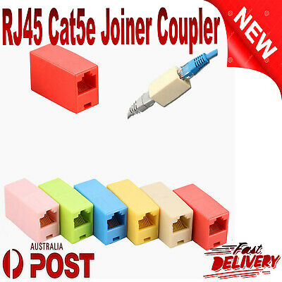 RJ45 Cat5e Joiner Coupler Connector Cable Extender For Ethernet LAN Network DSL