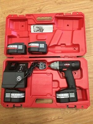"""Chicago Pneumatic 8730 3/8"""" Drive 14.4 Volt Impact Wrench + 2 extra batteries"""