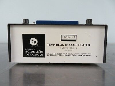 Scientific Products H2025-1 Lab Variable Heat Temp-Block with Warranty