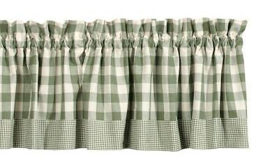 FRENCH COUNTRY CURTAIN Ruffled BERRY VINE Kitchen Window ...