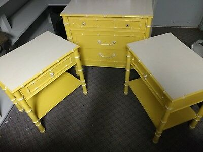 Three-piece Advantage Thomasville Chester drawers side tables
