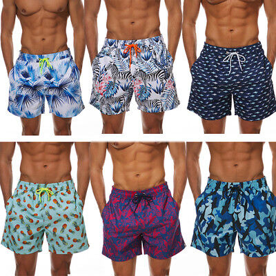 0f2f64cf86 Men's Beach Board Shorts Swimming Surfing Trunks with Pockets Lined Cool  Floral