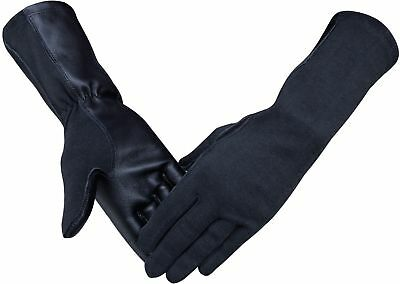 Nomex Pilot Tactical Flight Gloves Black,Green