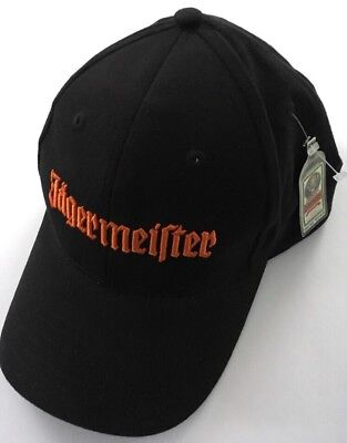 NEW Jagermeister Embroidered Dad Hat Cap Licensed Black SnapBack Adjustable NWT
