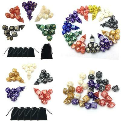 35 Pcs DD Dungeons And Dragons Dice 5 Sets RPG Games Die Dices with Pouch New