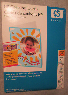 hewlett packard quarter fold white greeting cards with envelopes 20