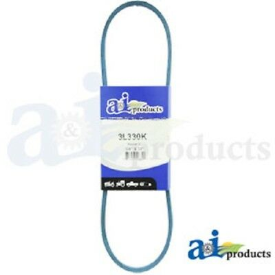 "3L330K 3L-Section Made With Kevlar  (Blue) V Belt - 3/8"" X 33"""