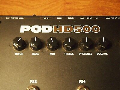 Line 6 POD HD500 Multi-Effects Guitar Effect Pedal Excellent Condition!