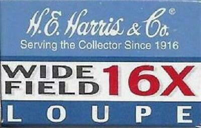 Coin Inspection 16X Loupe Jeweler Magnifier Harris Wide Field Best Free Shipping