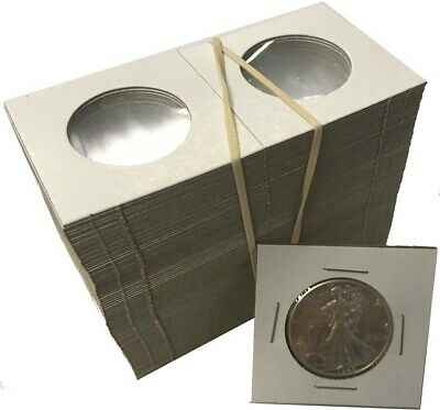 Half Dollar 2x2 Coin Cardboard Mylar Flips Holder Bundle of 100 Cowen's Best US