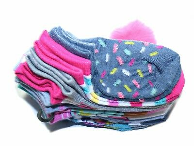 Candy Girl 10 Pair Socks Size: 7-10 with Hairband, Multicolor