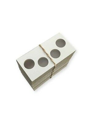 2 hole 2x2 Coin Flips Mylar 100 Cardboard Holders Penny Cent Dime P&S Set Cowens