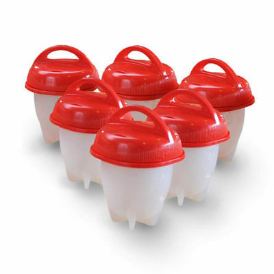 Egglettes Egg Cooker Hard Boiled Eggs no Shell Egg Cups Set 6 Pieces or 1 Piece