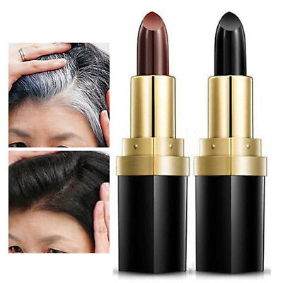 Temporary Cosmetic Cover Grey White Hair Touch Up Hair Dye Hair Color Lipstick N