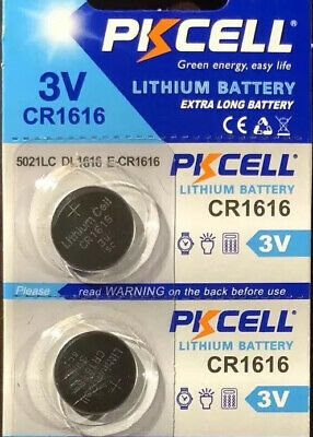 CR1616 PKCELL MICRO LITHIUM BATTERY. Fast service EXP 2023 (2 battery)