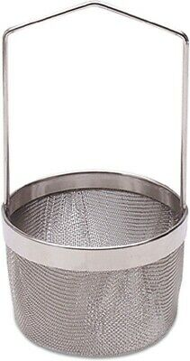 """Stainless Steel Coin / Jewelry Dipping Basket Ultra Sonic 2.5"""" Diameter New"""
