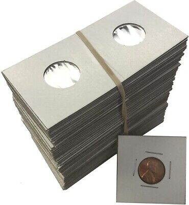 Penny Cent 2x2 Coin Cardboard Mylar Flips Holders Bundle of 100 Cowen's Premium