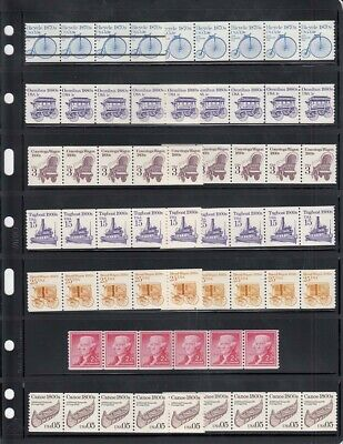 Lighthouse Vario Stamps Pages 7 Rows 7S Pack of 5 Black Sheets Free US Shipping