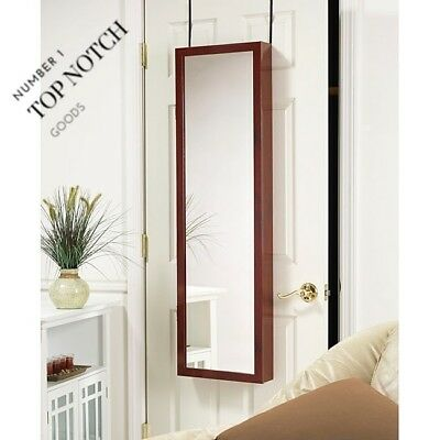 New View Over The Door Mirrored Jewelry Armoire Ring Earring