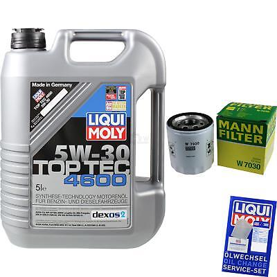 MANN-FILTER KIT CAMBIO ACEITE 5l Liqui Moly TOP TEC 4600 5w-30 mlm-9722194