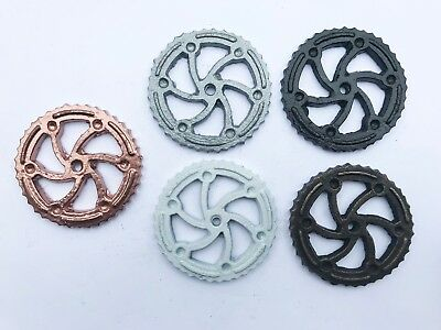 Wheel Decorative Back Plate Base for Knobs, Drawer, Cabinet, Pulls - 6 COLORS