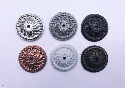 Round Decorative Back Plate Base for Knobs, Drawer, Cabinet, Pulls - 6 COLORS