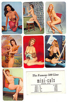 The Famous 500 Line Of Mini-Cals Salesman Samples 1965