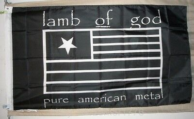 Lamb of God Pure American Metal 3'x5' black flag banner - USA seller shipper