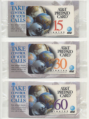 1996 AT&T Phone cards with Sales Flyer Brochure