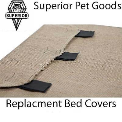 Superior Pet Goods Jumbo Hessian Replacement Dog Bed Jute Cover for Raised Bed