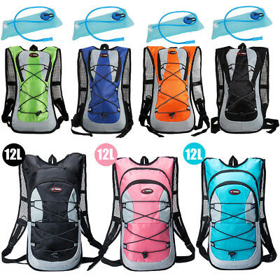 Sport 12L/5L Bike Bicycle Hydration Pack Backpack + 2L Water Bladder Bag Cycling