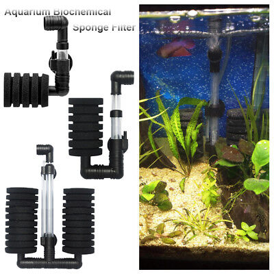 Aquarium Bio Sponge Filters Single/Double Head Cotton Filter Fish Tank Pump