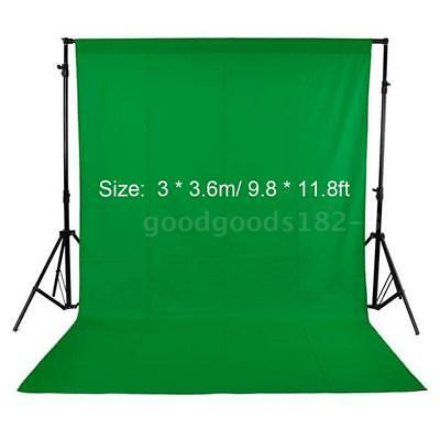 3*3.6m Photography Studio Screen Background Muslin Backdrops Wall Floor Green AU