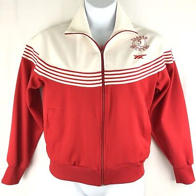 Vintage ASICS TIGER Women's Zipper Jacket Large VASSAR BREWERS Volleyball Red
