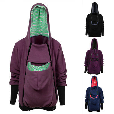 Women Maternity Hoodies Outwear Pregnant Clothes Baby Carrier Kangaroo Coat XR