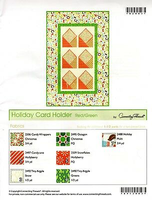 Holiday Card Holder Quilting Kit by Connecting Threads