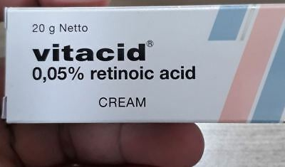 New 20 gram - vitacid cream 0.05 % with - we only sell the original
