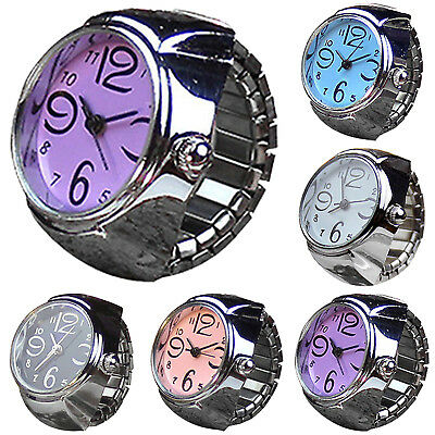 Dial Quartz Analog Watch Creative Steel Cool Elastic Quartz Finger Ring Watch HI