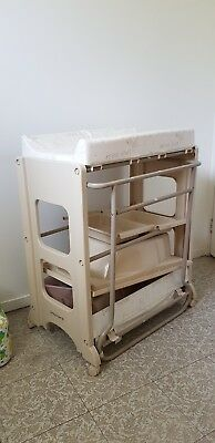 baby bath and changing table in good used condition