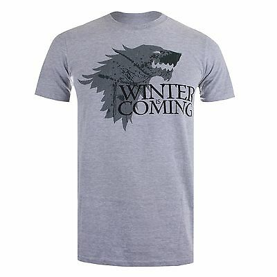 Game of Thrones - Winter is Coming - House of Stark - Mens T-Shirt - Grey