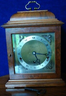 Vintage Elliott Burr Walnut Cased Westminster/whittington Strike  Bracket Clock