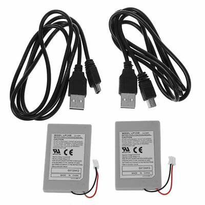 2X Replacement Battery Pack For SONY PS3 Controller + USB Charger Cable N1Y7