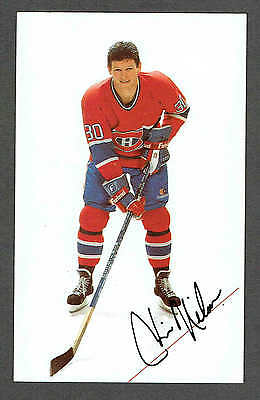 1985-86 Montreal Canadiens Team-Issued Chris Nilan Card